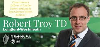 Image of Robert Troy T.D logo, member of Fianna Fail party, Spokesperson on Business, Enterprise and Innovation | Longford & Westmeath
