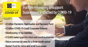 Image listing further measures to support businesses impacted by COVID-19