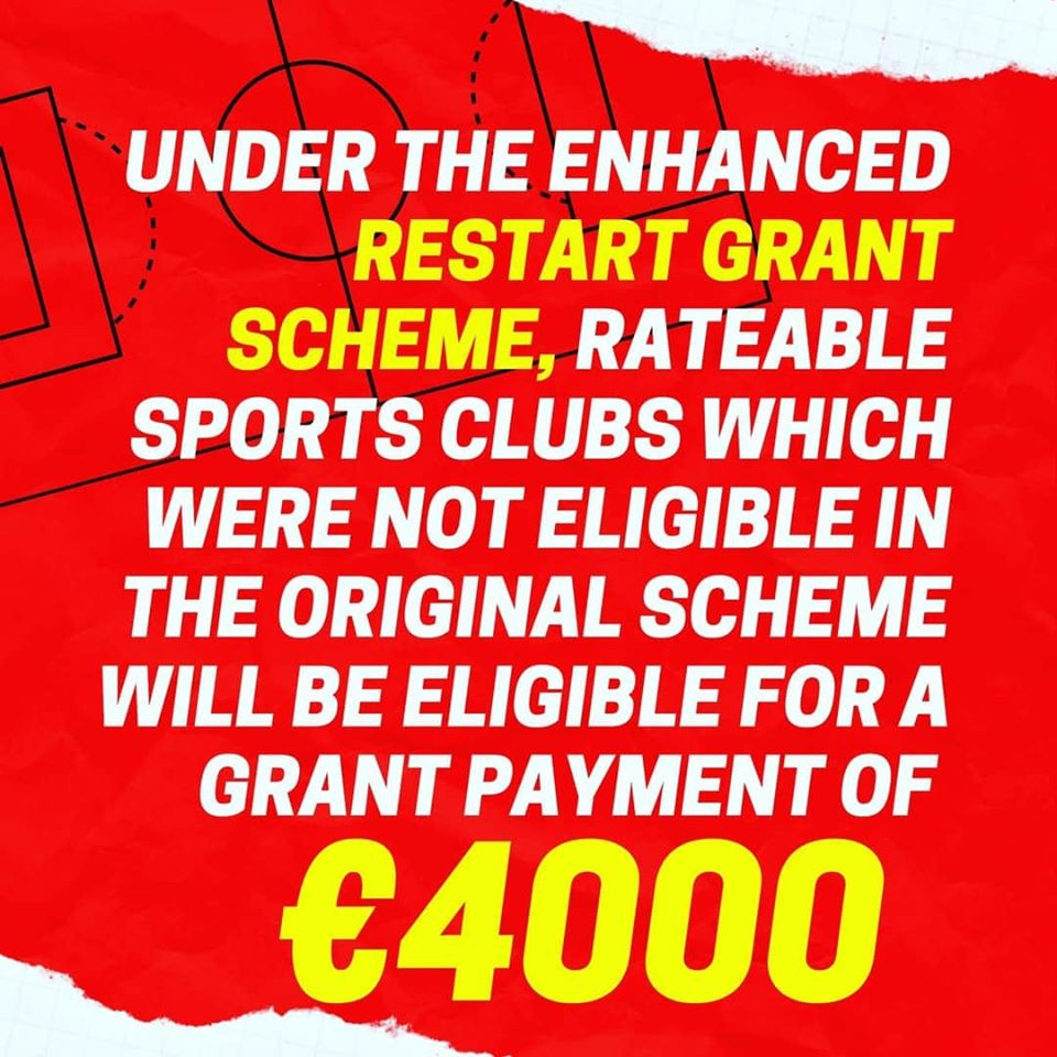 restart grant now includes sports clubs